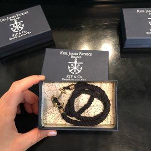 Kiel James Patrick Black Rope Bracelet